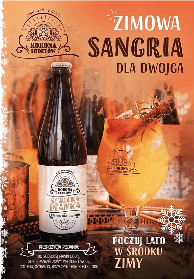 Zimowa sangria dla dwojga z Piwa Sudecka Pianka receptury browaru Korona Sudetów.
