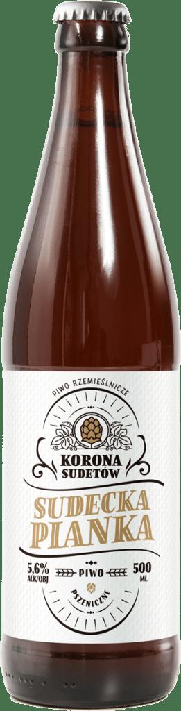 Sudecka pianka - piwo pszeniczne z browaru Korona Sudetów.
